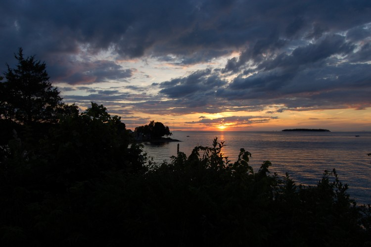 sunset viewed from Gibraltar Island